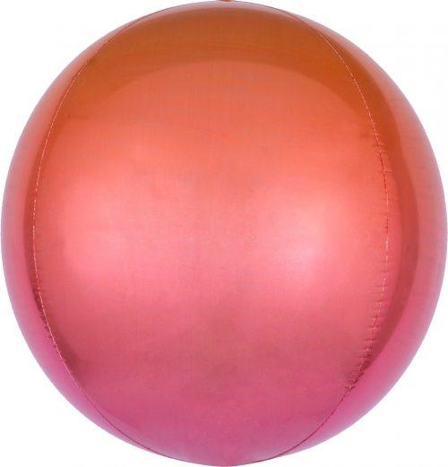 Μπαλόνι Ombre κόκκινο & πορτοκαλί σφαίρα