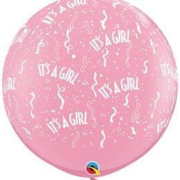 """36"""" μπαλόνι τυπωμένο It's a Girl με κονφετί"""