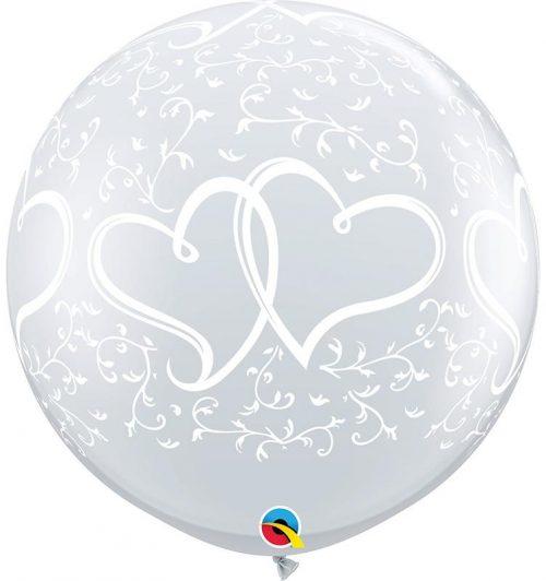"""36"""" μπαλόνι τυπωμένο καρδιές που ενώνονται"""