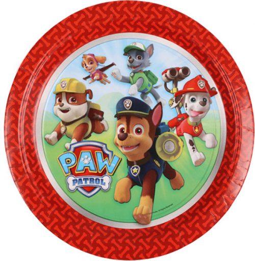 Πιάτα πάρτυ Paw Patrol (8 τεμ)