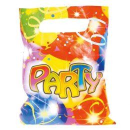 Πλαστικές σακούλες πάρτυ με Μπαλόνια (6 τεμ)