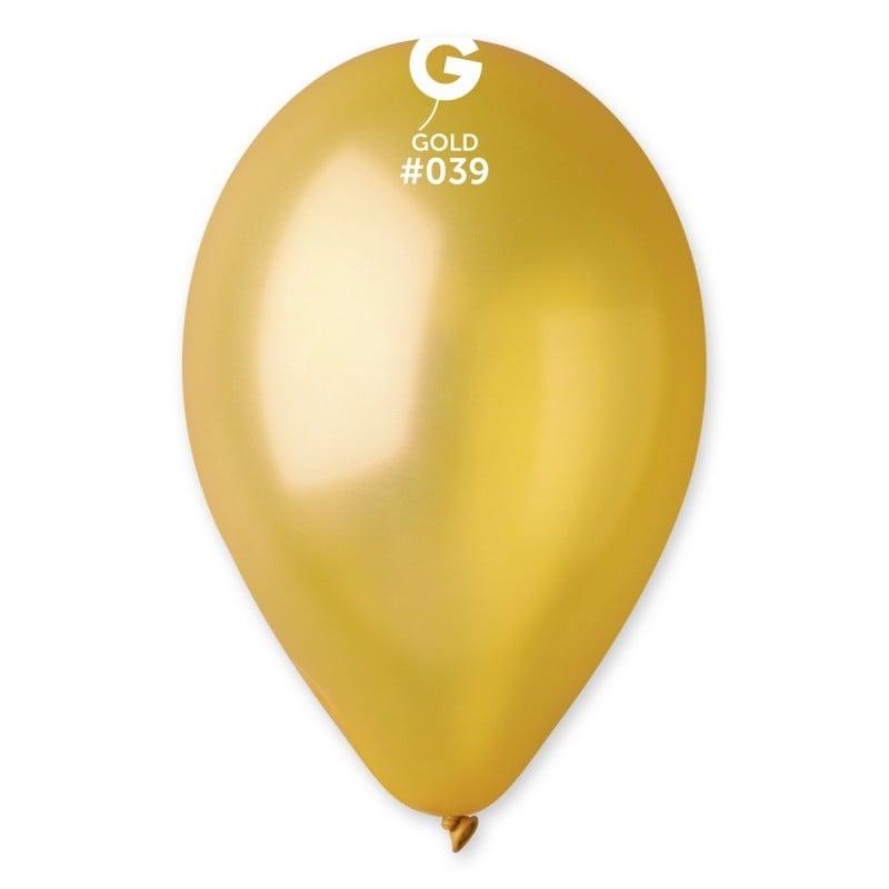 """9"""" Χρυσό λάτεξ μπαλόνι"""