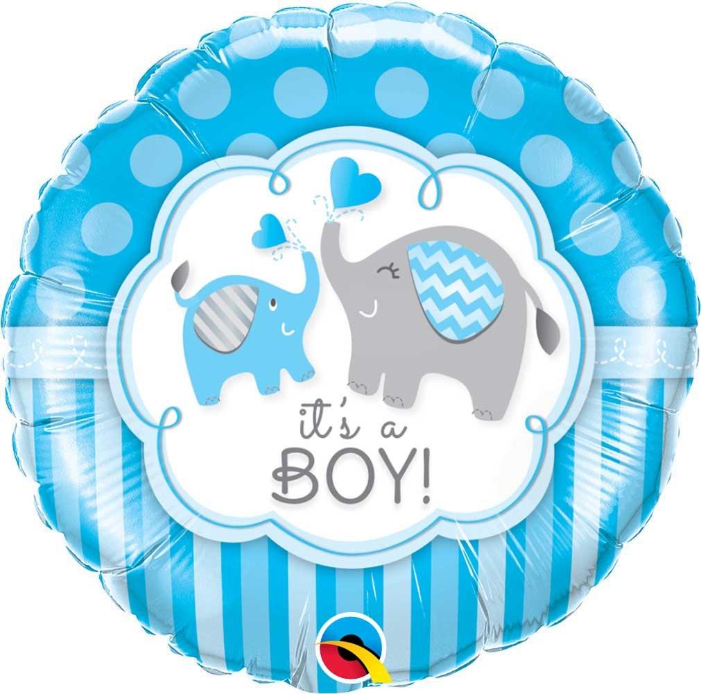 Μπαλόνι γέννησης Baby Boy ελεφαντάκια 45 εκ