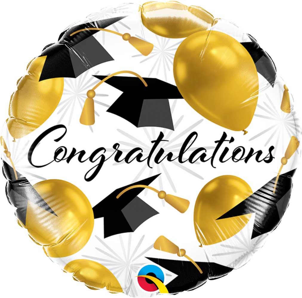 Μπαλόνι αποφοίτησης Congratulations χρυσό 45 εκ