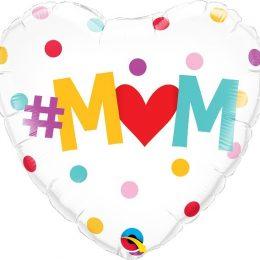 Μπαλόνι Καρδιά Mom πουά 46 εκ