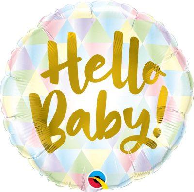 Μπαλόνι γέννησης Hello Baby παστέλ 46 εκ