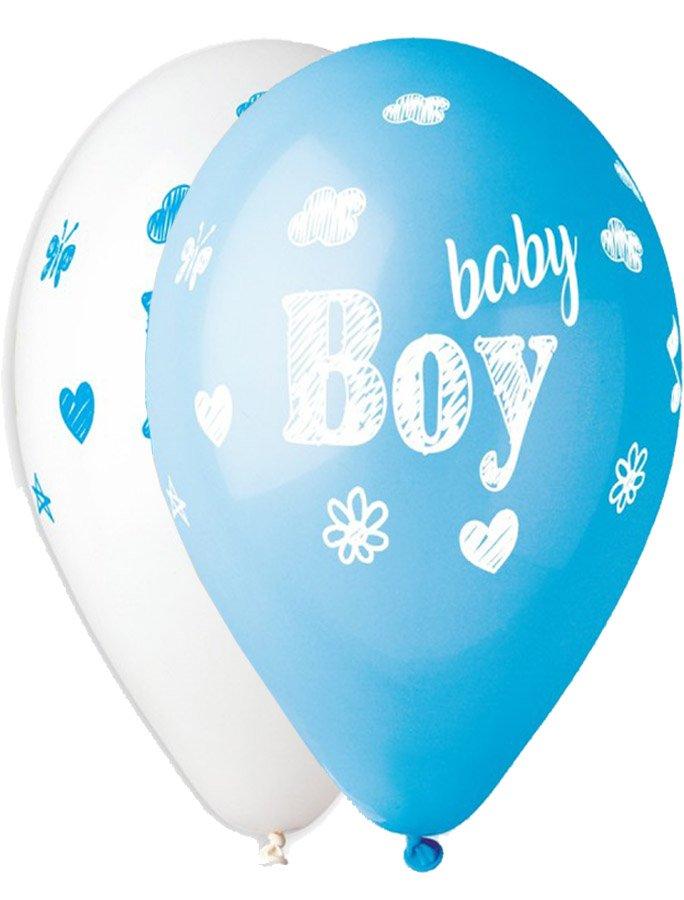 """12"""" Μπαλόνι Baby Boy σκίτσο"""