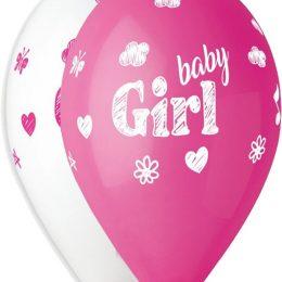 12″ Μπαλόνι Baby Girl σκίτσο