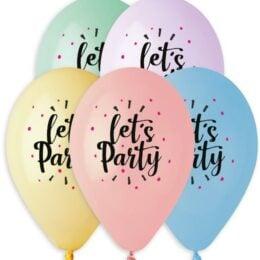 12″ Μπαλόνι Let's Party παστέλ αποχρώσεις