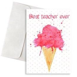 ευχετήρια κάρτα παγωτό για τη δάσκαλα