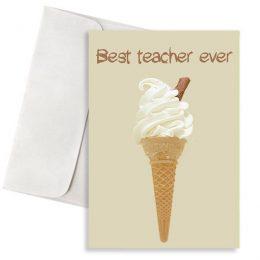 Ευχετήρια Κάρτα Παγωτό για τον Δάσκαλο