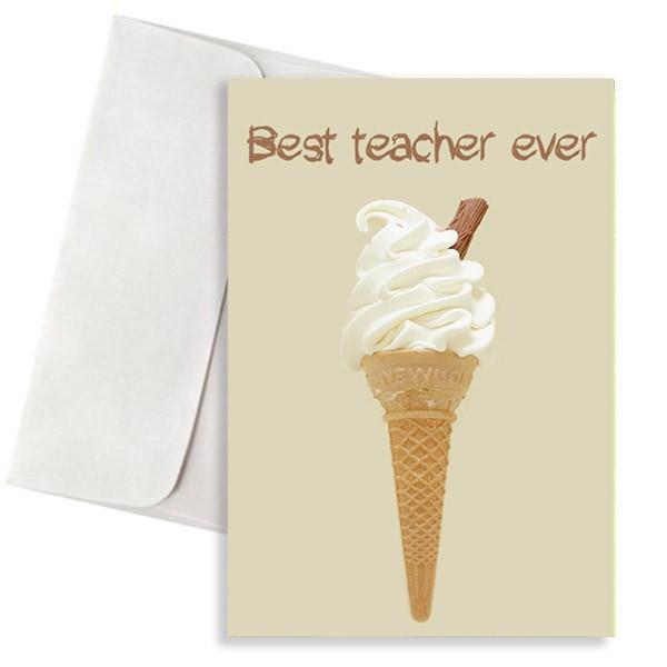 ευχετήρια κάρτα παγωτό για το δάσκαλο