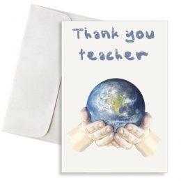 ευχετήρια κάρτα thank you teacher