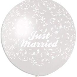 40″ μπαλόνι τυπωμένο Just Married με κέντημα