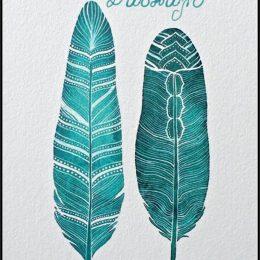Ευχετήρια Κάρτα Φτερά για τον Δάσκαλο