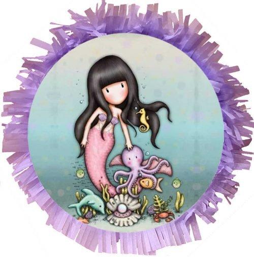 Χειροποίητη Πινιάτα Gorjuss Santoro Mermaid
