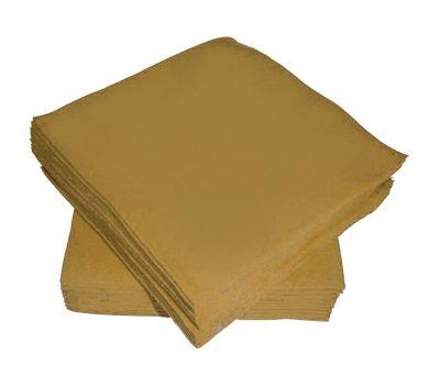 Χαρτοπετσέτες μικρές χρυσές (50 τεμ)