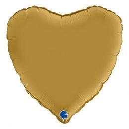 """Μπαλόνι σατέν χρυσή καρδιά 18"""""""