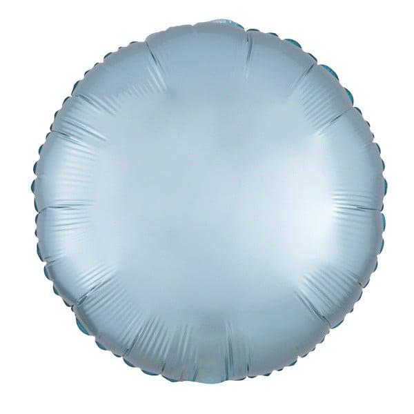 """Μπαλόνι σατέν παστέλ μπλε στρογγυλό 18"""""""