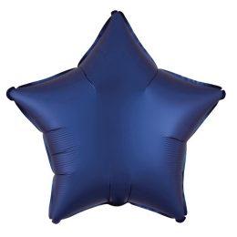 Μπαλόνι σατέν navy μπλε αστέρι 18″