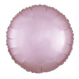 """Μπαλόνι σατέν παστέλ ροζ στρογγυλό 18"""""""