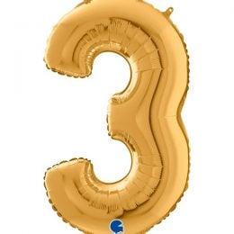 Μπαλόνι 66 εκ Χρυσό Αριθμός 3