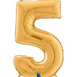 Μπαλόνι 66 εκ Χρυσό Αριθμός 5