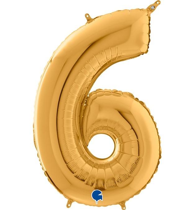 Μπαλόνι 66 εκ Χρυσό Αριθμός 6