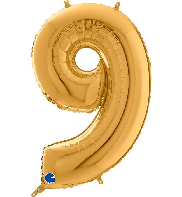 Μπαλόνι 66 εκ Χρυσό Αριθμός 9