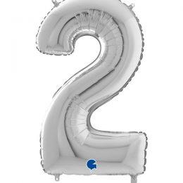 Μπαλόνι 66 εκ Ασημί Αριθμός 2