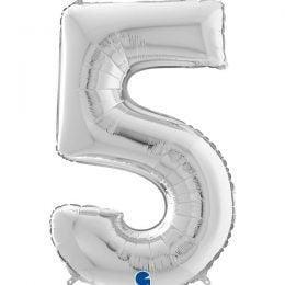 Μπαλόνι 66 εκ Ασημί Αριθμός 5