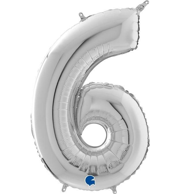 Μπαλόνι 66 εκ Ασημί Αριθμός 6