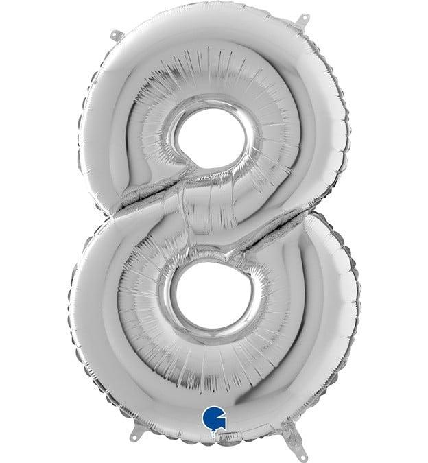 Μπαλόνι 66 εκ Ασημί Αριθμός 8