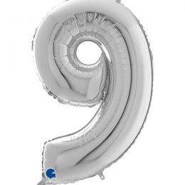Μπαλόνι 66 εκ Ασημί Αριθμός 9