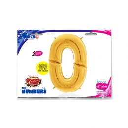 Μπαλόνι Γίγας 163 εκ Χρυσό Αριθμός 0