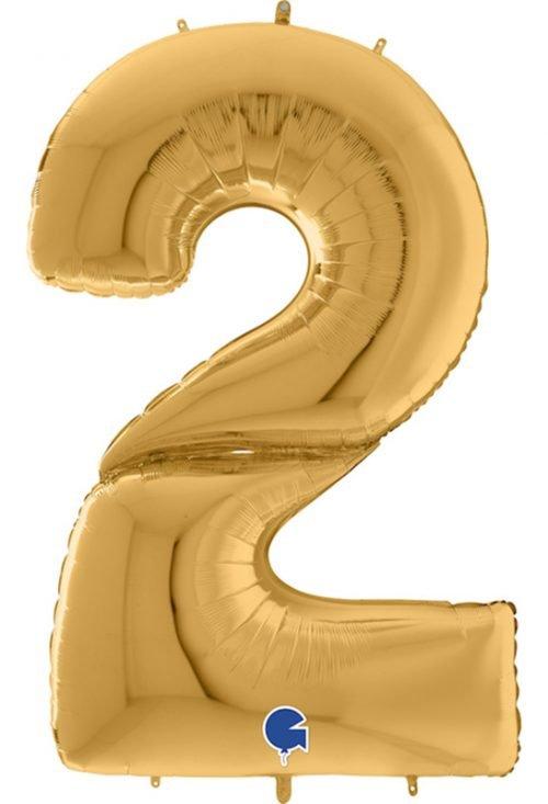 Μπαλόνι Γίγας 163 εκ Χρυσό Αριθμός 2