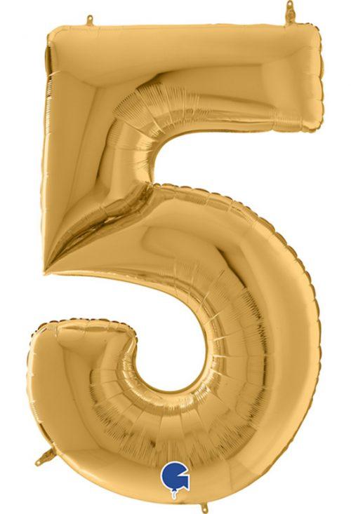 Μπαλόνι Γίγας 163 εκ Χρυσό Αριθμός 5