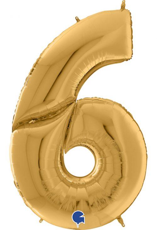 Μπαλόνι Γίγας 163 εκ Χρυσό Αριθμός 6