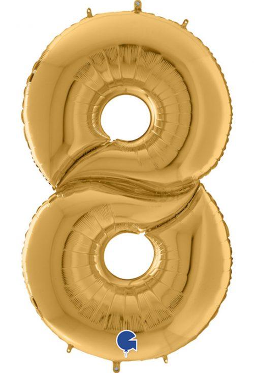 Μπαλόνι Γίγας 163 εκ Χρυσό Αριθμός 8
