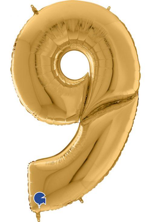 Μπαλόνι Γίγας 163 εκ Χρυσό Αριθμός 9