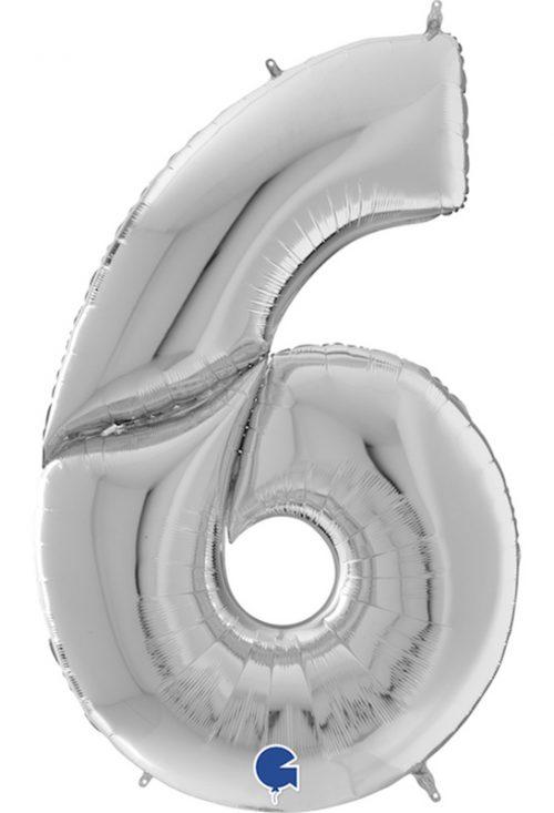 Μπαλόνι Γίγας 163 εκ Ασημί Αριθμός 6