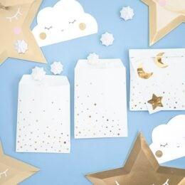 Σακουλίτσες με αυτοκόλλητο Little Star (6 τεμ)