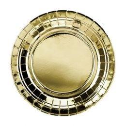 Πιάτα πάρτυ μικρά χρυσά (6 τεμ)
