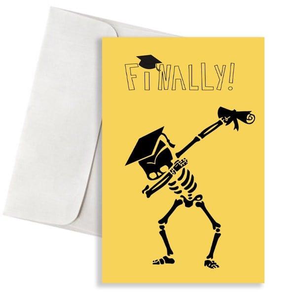 Ευχετήρια Κάρτα για Αποφοίτηση (σχέδιο 6)