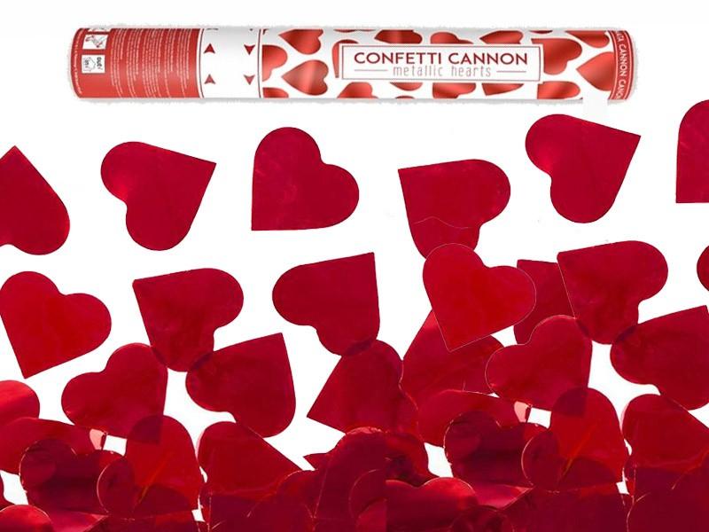Κανονάκι με κόκκινο κομφετί Καρδιές