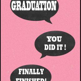 Ευχετήρια Κάρτα για Αποφοίτηση (σχέδιο 5)