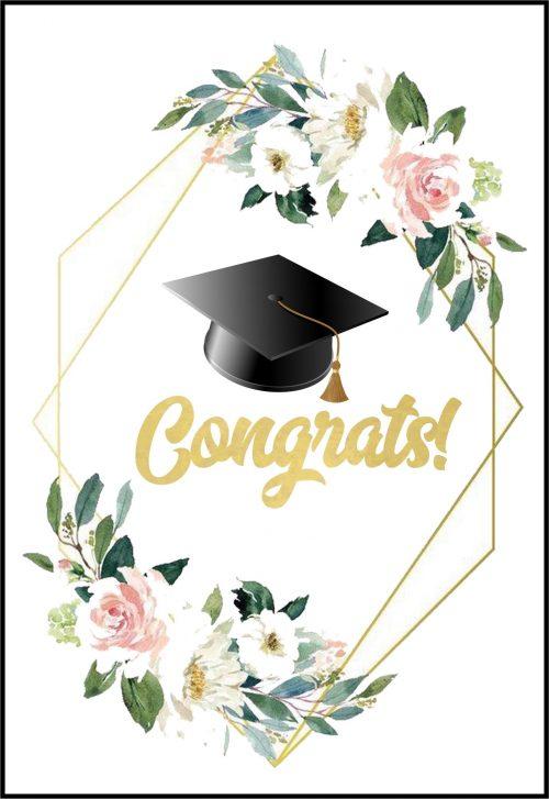Ευχετήρια Κάρτα για Αποφοίτηση (σχέδιο 8)