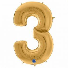 Μπαλόνι Γίγας 163 εκ Χρυσό Αριθμός 3