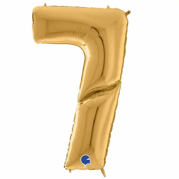 μπαλόνι γίγας 163 εκ χρυσό αριθμός 7
