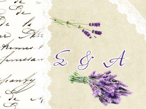 Ευχαριστήριο καρτελάκι γάμου Λεβάντα
